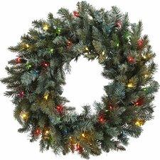 "30"" Lighted Pine Wreath"