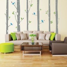 Woodland Sparrows Wall Decal