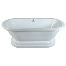 Aqua Eden 67 x 31.5 Pedestal Double Bathtub by Kingston Brass