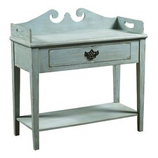 Blue Wood Console Table by One Allium Way