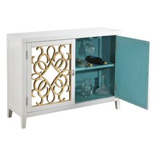 2 Door Wine Storage Mirrored Console by House of Hampton