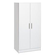 "Wayfair Basics 65""H x 32""W x 20""D White Wardrobe Cabinet"