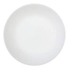 Winter Frost White 6 Piece Glass Dinner Plate in White (Set of 6)