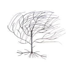 Wanddekoration Windbewegter Baum