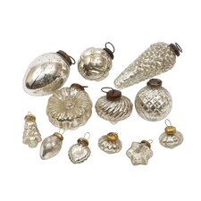 Silent Night 12 Piece Mercury Glass Ornament