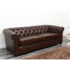 Molly Leather Chesterfield Sofa