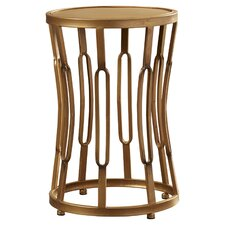 Riley Hourglass End Table with Metal Top by House of Hampton®