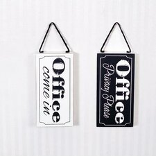 Office Double Sided Sign Wall Décor