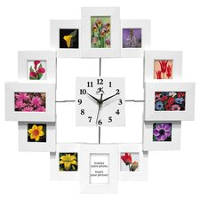 "Time Capsule 15.75"" Picture Frame Wall Clock"