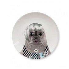 Wild Dining 17.43 cm Ceramic Dinner Plate in  Baby Seal