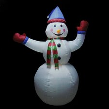Animated Inflatable Lighted Standing Snowman Christmas Decoration