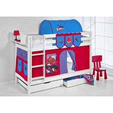 Jelle Spider-Man High Sleeper Bunk Bed with Curtain and Two Slats