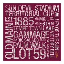 NCAA Subway Textual Art on Wrapped Canvas