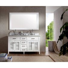 Griffith 61 Double Bathroom Vanity Set with Mirror by Beachcrest Home