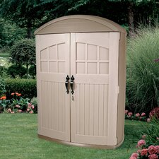 LifeScapes 4.17 ft. W x 2 ft. D Plastic Vertical Tool Shed