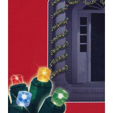 Battery Operated Pine Christmas Garland with Lights