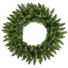 "30"" Lighted Artificial Camdon Fir Christmas Wreath"