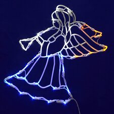 Lighted Angel With Horn Christmas