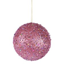 Holographic Glitter Drenched Christmas Ball Ornament