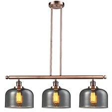Glass Bell 3-Light Island Pendant