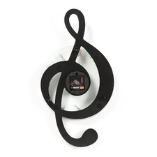 Lulsgate Musical Clef Wall Clock by Wade Logan
