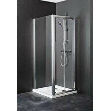 Ella 78.5cm W x 2.5cm D x 185cm H Rectangular Shower Enclosure