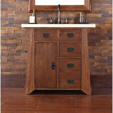 Pasadena 36 Single Antique Oak Bathroom Vanity Set by James Martin Furniture