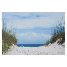 Ocean Path Photo Graphic Print on Canvas