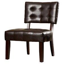 Modern Vinyl Slipper Chair by Varick Gallery