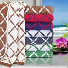 Larksville Luxurious Diamonds 6 Piece Towel Set