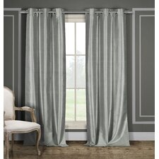 Faux Silk Thermal Blackout Panel in Gray (Set of 2)
