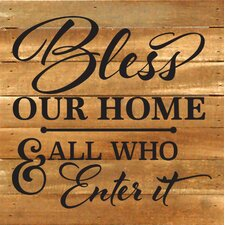 Bless Our Home Textual Art Plaque