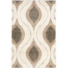 Jonah Cream/Gray Shag Area Rug