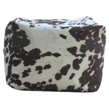 Premiere Home Cowhide Pouf Footstool Ottoman by Fox Hill Trading
