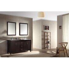 Hanson 60 Double Bathroom Vanity Set with Mirror by Ariel Bath