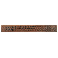 """1"""" x 8"""" Hammered Copper Tile in Oil Rubbed Bronze"""