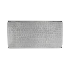 """3"""" x 6"""" Hammered Copper Tile in Nickel"""