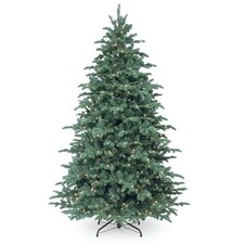 7.5' Blue Spruce Artificial Christmas Tree with 750 Incandescent Clear Lights with Stand
