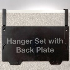 """Filing System Hangers, For Panels, 1-1/4"""" to 3"""" Thick, Black"""