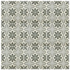 "Annata 9.75"" x 9.75"" Porcelain Patterned/Field Tile in Gray"