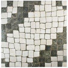 "Molinos 20.25"" x 20.25"" Ceramic Mosaic Tile in Blanco"