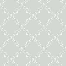"""Grey Quatrefoil 18' x 20.5"""" Peel And Stick Wallpaper"""