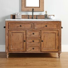 "Copper Cove 48"" Single Driftwood Patina Bathroom Vanity Set"