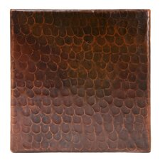 """6"""" x 6"""" Hammered Copper Tile in Oil Rubbed Bronze (Set of 8)"""