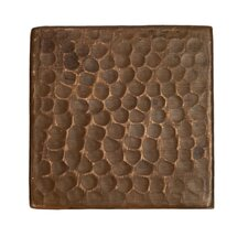"""3"""" x 3"""" Hammered Copper Tile in Oil Rubbed Bronze (Set of 4)"""