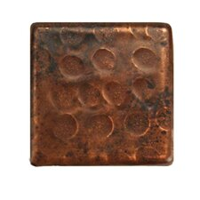 """2"""" x 2"""" Hammered Copper Tile in Oil Rubbed Bronze (Set of 8)"""