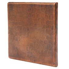 """4"""" x 4"""" Hammered Copper Tile in Oil Rubbed Bronze (Set of 4)"""