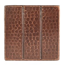 """4"""" x 4"""" Hammered Copper Tile in Oil Rubbed Bronze"""