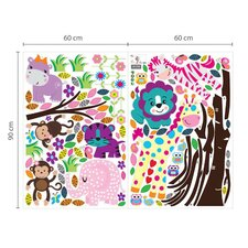 Animal Colourful Tree Children's Wall Sticker