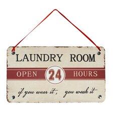 """Laundry Room"" Antique Wisdom Sign Wall Décor"